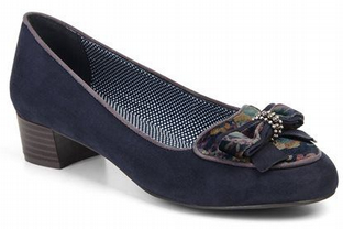 Ruby Shoo Victoria Navy Shoes
